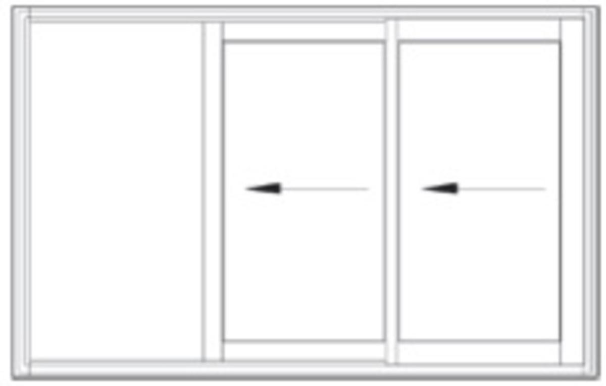 Fen tre facile coulissant galandage alu gamme prenium 2 vantaux 2 rai - Porte fenetre bois 2 vantaux prix ...