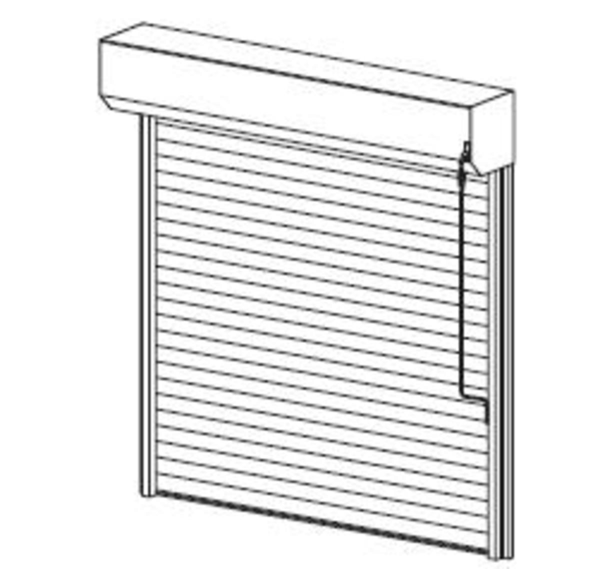 Fen tre facile porte de garage enroulable lames en acier for Fabricant porte de garage enroulable