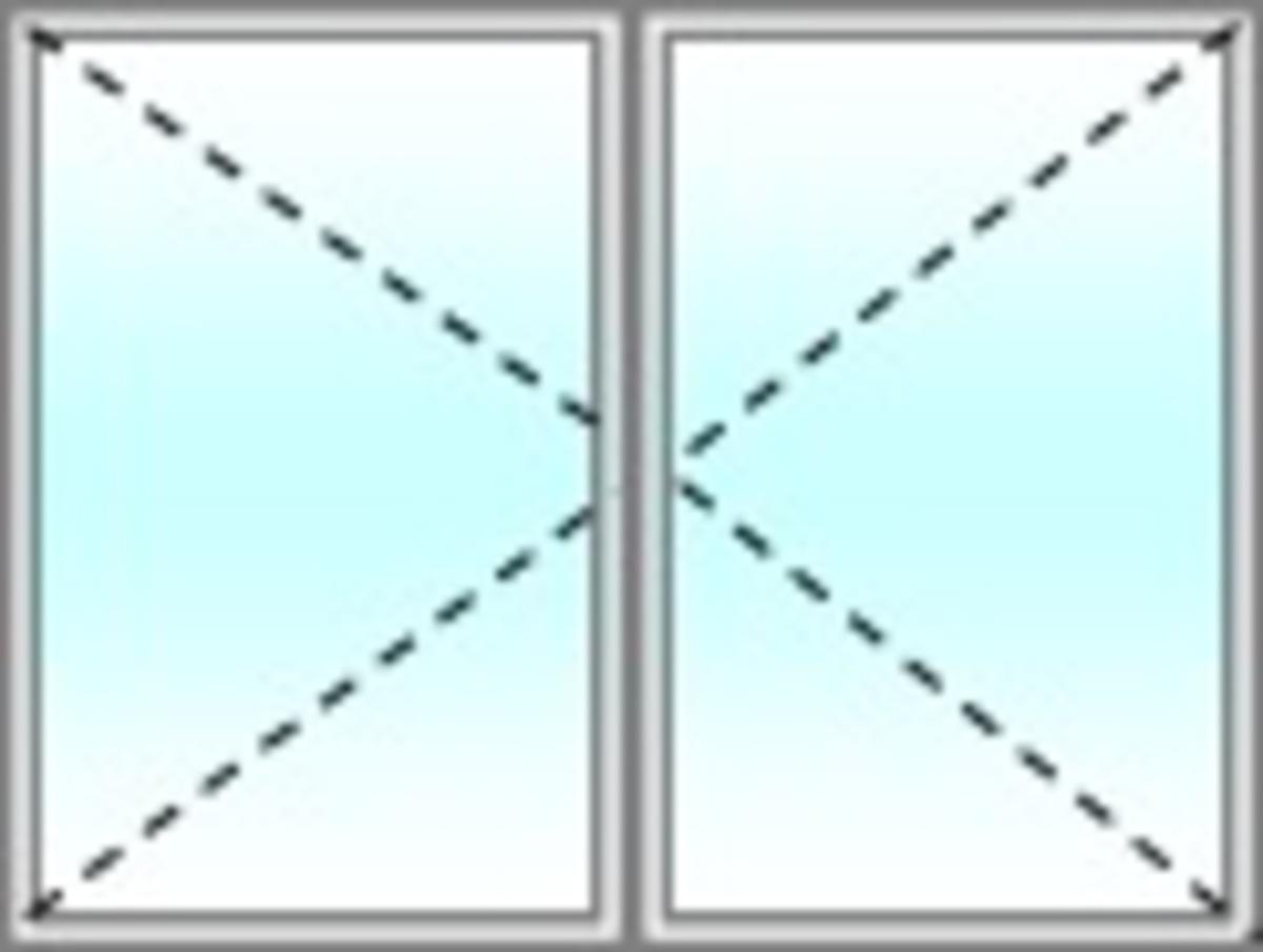 Fen tre facile fenetre pvc gamme standard 2 vantaux - Double vitrage sur mesure castorama ...