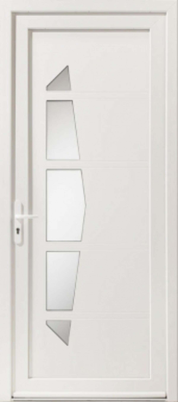 Fen Tre Facile Porte D 39 Entr E Pvc Mod Le Milky 2 Blanc 2 Faces