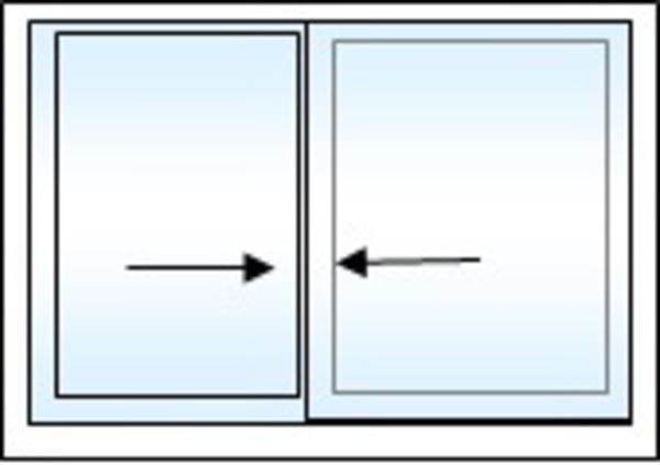 Fen tre facile coulissant pvc gamme standard 2 for Fenetre coulissante pvc